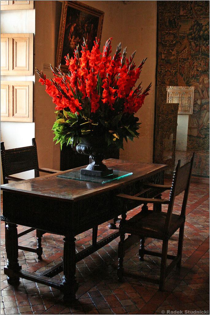 Wnętrze zamku Chenonceau