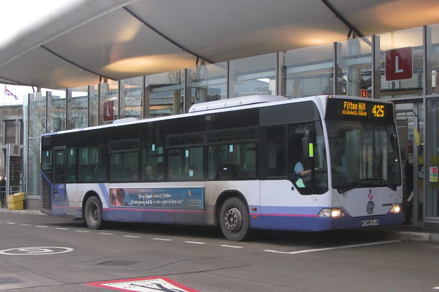 First Greater Manchester Mercedes Citaro, W349 RJA, Oldham bus station