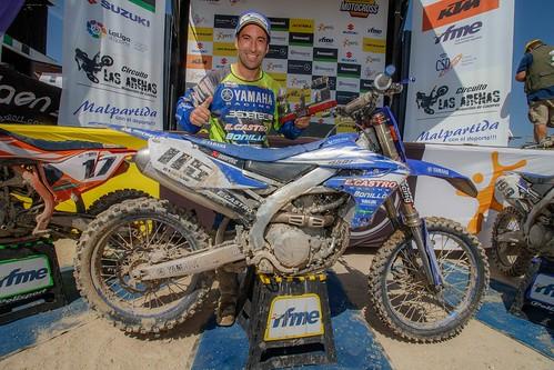 Campeón del mundo de motocross Carlos Campano