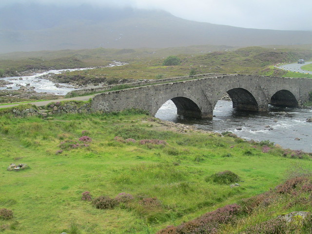 Old Bridge on Skye From Angle