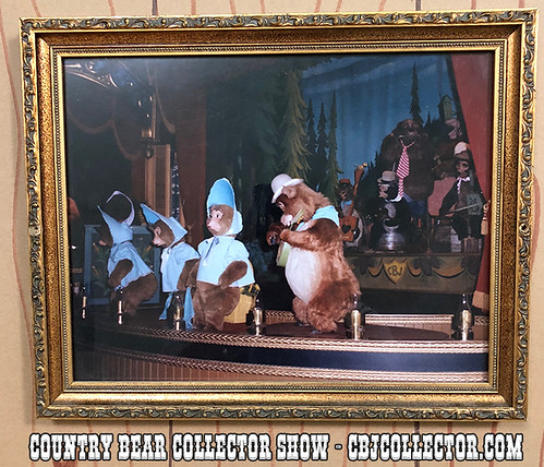 Framed Photo from Disneyland Country Bear Jamboree Queue w/ Freckled Princess - Country Bear Collector 139