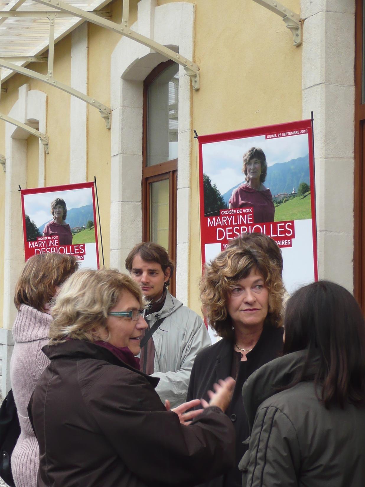 10es Rencontres littéraires autour de Maryline Desbiolles © S. Pomini - Fondation Facim, 2010 (7)