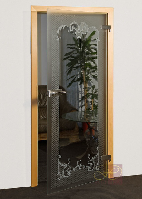 caustica skleněné dveře