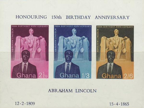 Známky Ghana 1959 Abraham Lincoln nerazený hárok