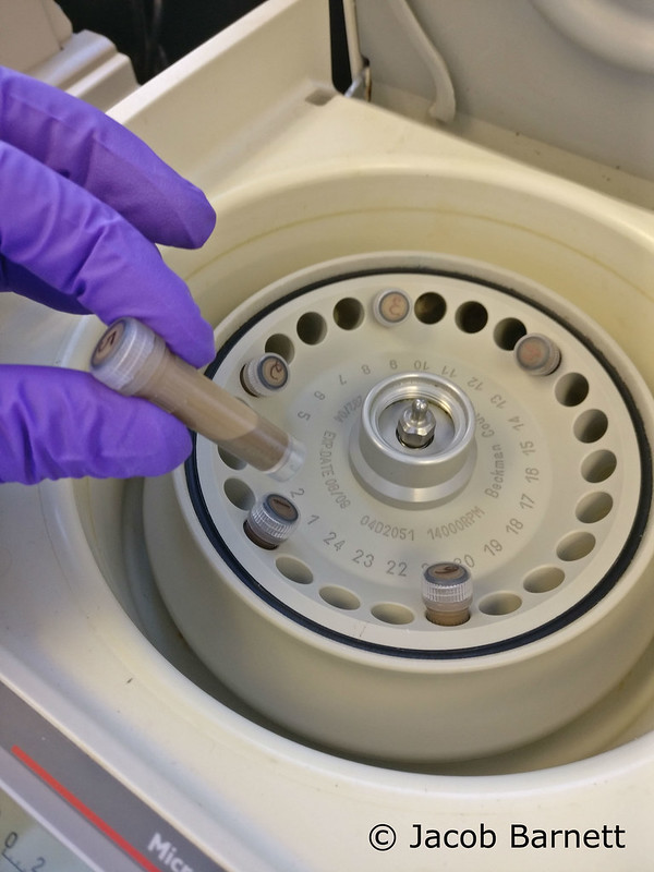 DNA Soil in centrifuge (1)