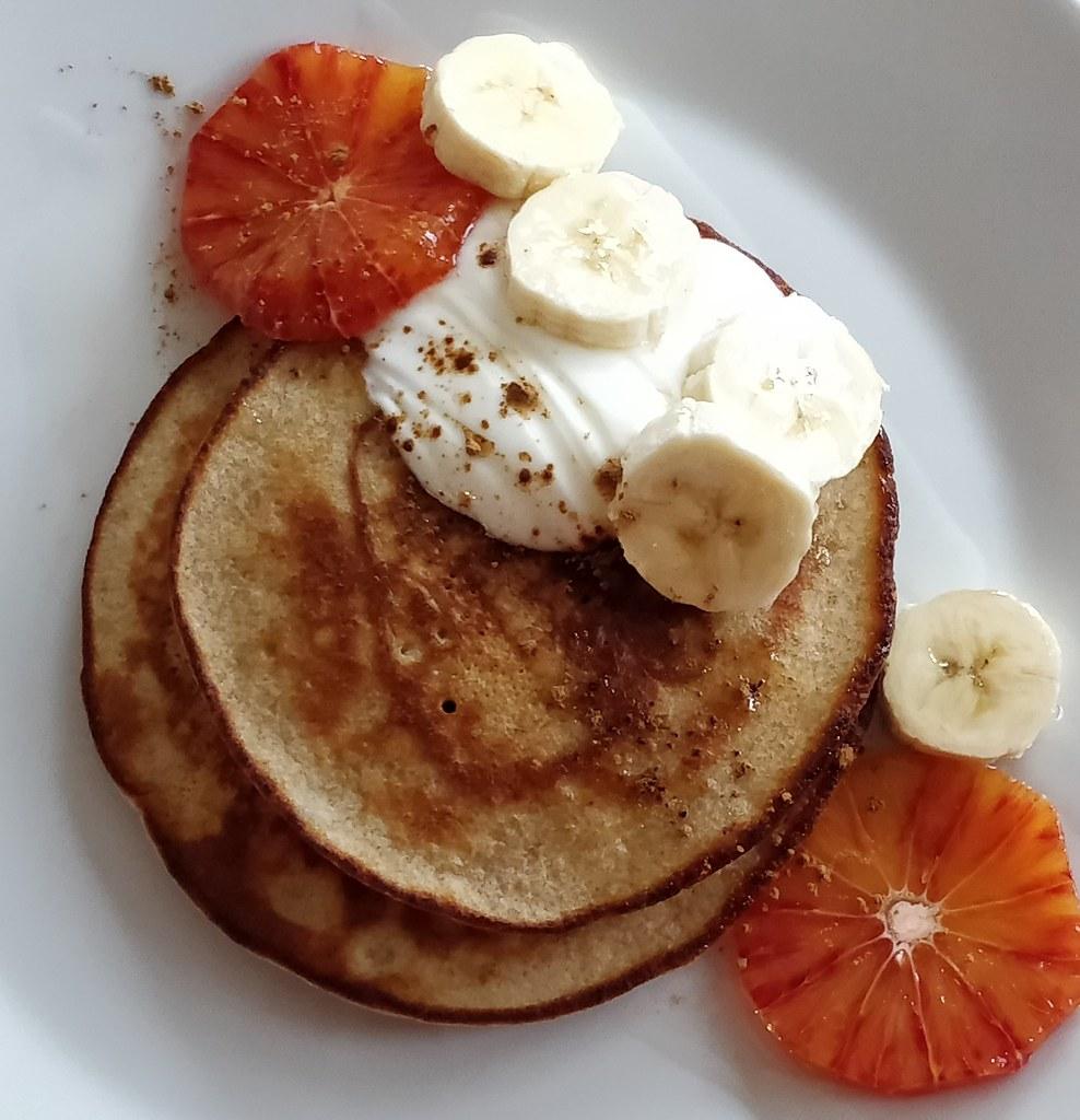 Buchweizen-Dinkel-Pancakes
