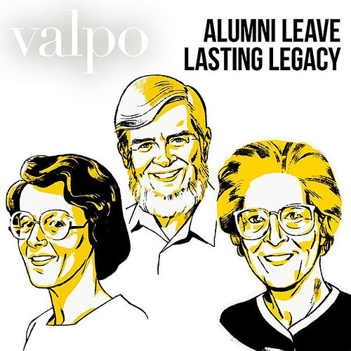 Combined, Dee Herscher '50, '66 M.A., Stephanie Umbach '59, M.S., and Dale Kempf '62, M.S., dedicated nearly 130 years of service to Valparaiso University. Read their stories in the latest issue of VALPO Magazine and learn how they have left a lasting leg