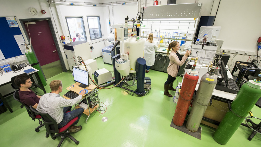 Researchers in the Material and Chemical Characterisation Facility