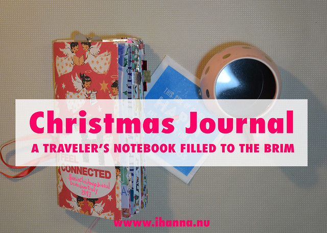 Christmas journal filled to the brim - final flip through video