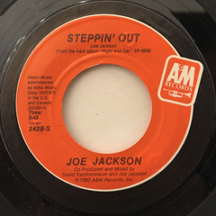 JOE JACKSON:STEPPIN' OUT(LABEL SIDE-A)