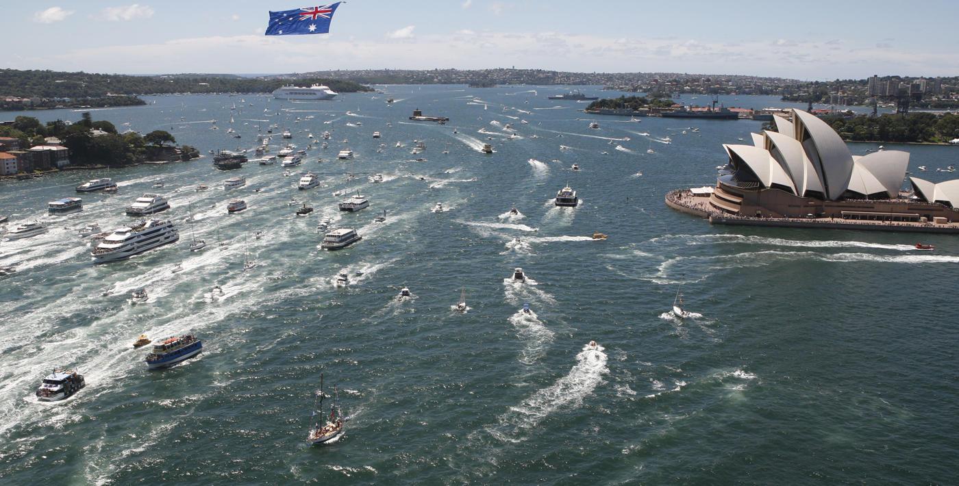 Australia Day celebrations in Sydney Harbour.