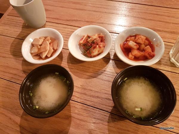 Miso soup and banchan