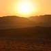 4. El sol comienza a bajar poco a poco en Wadi Rum