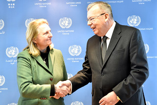 Austrian Minister for Foreign Affairs, Karin Kneissl, visits the UN in Vienna