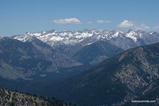 Sawtooth Mountains from Eightmile Mountain