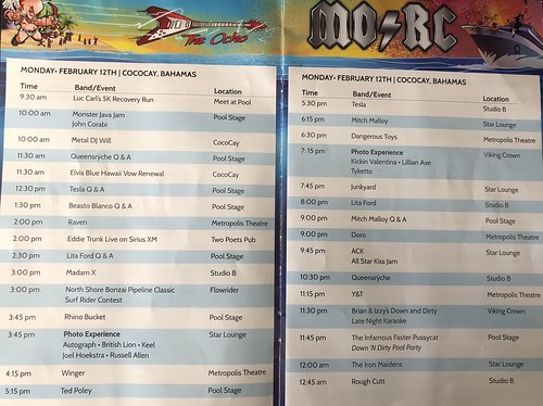 2018 Monsters of Rock Cruise