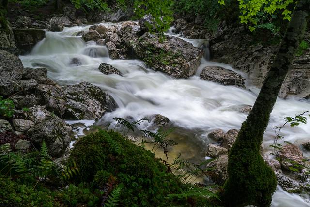 Below Savica Falls