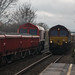 66192+66151 with 6X01 AND 6D44 PASS THROUGH WILLINGTON STATION