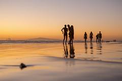 Huntington beach silhouettes