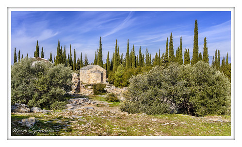 cypress tree sky landscape church chapel saariysqualitypictures nikon d50 cypresses