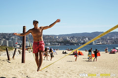 Slackline Playa del Deporte 2018