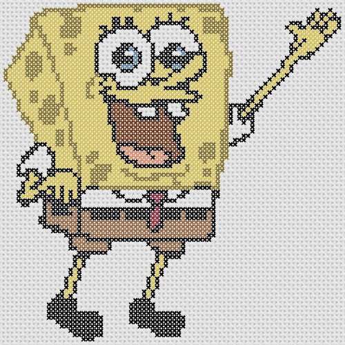 Preview of SpongeBob SquarePants Cross Stitch Pattern