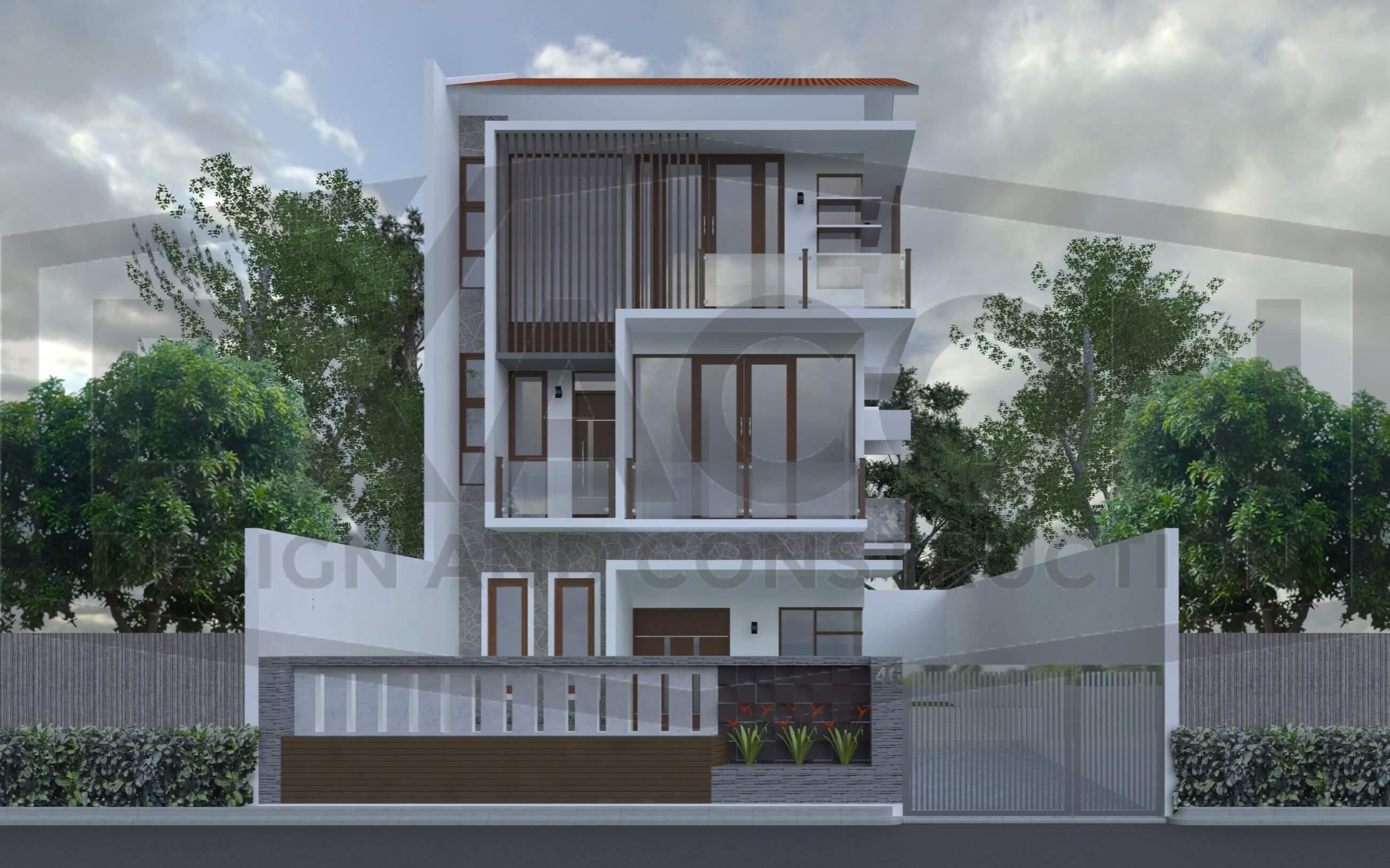 Proyek Desain Rumah Tinggal Minimalis Tropis Bapak Tri Jakarta Selatan