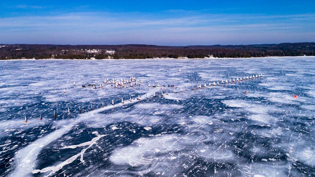 International DN Ice Yacht Racing Lake Charlevoix