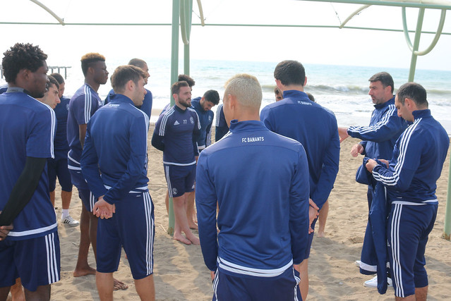 Training in the beach