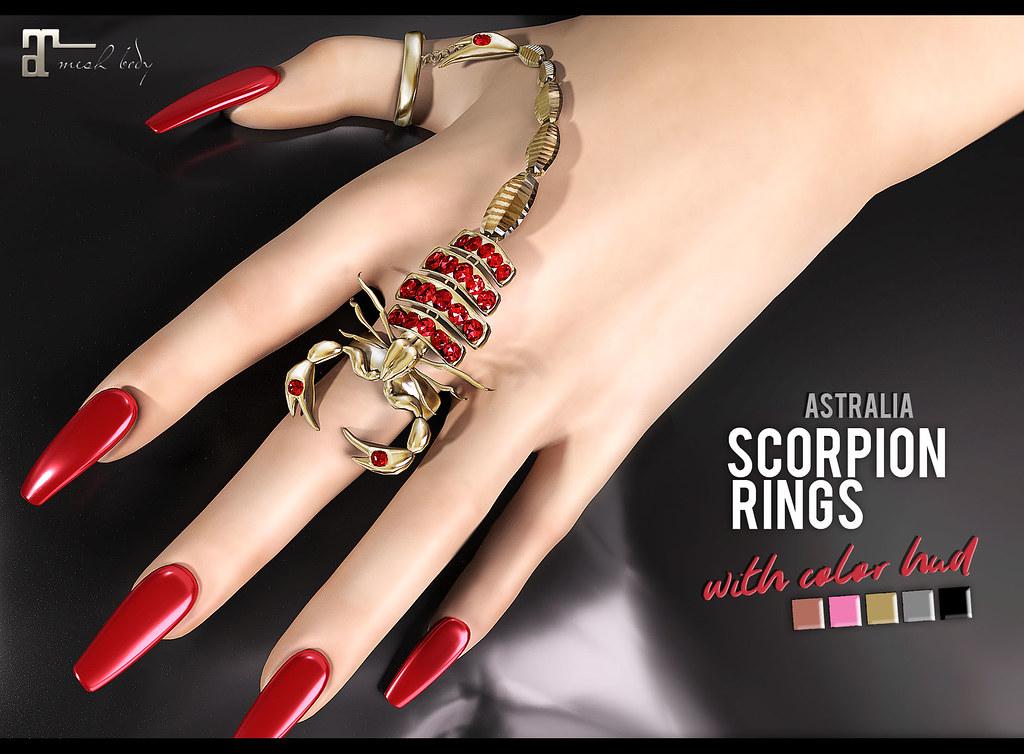 Astralia – Scorpion rings