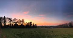 Countryside Panoramic Sunset