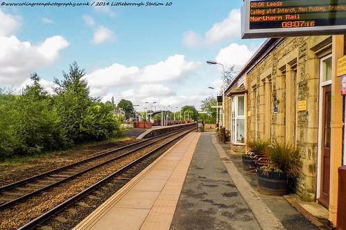Platform 1 at Littleborough Station.
