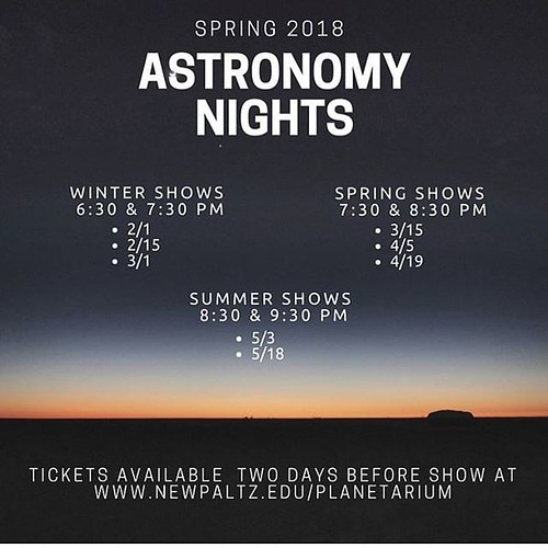 Our Spring 2018 Astro Night Schedule is LIVE