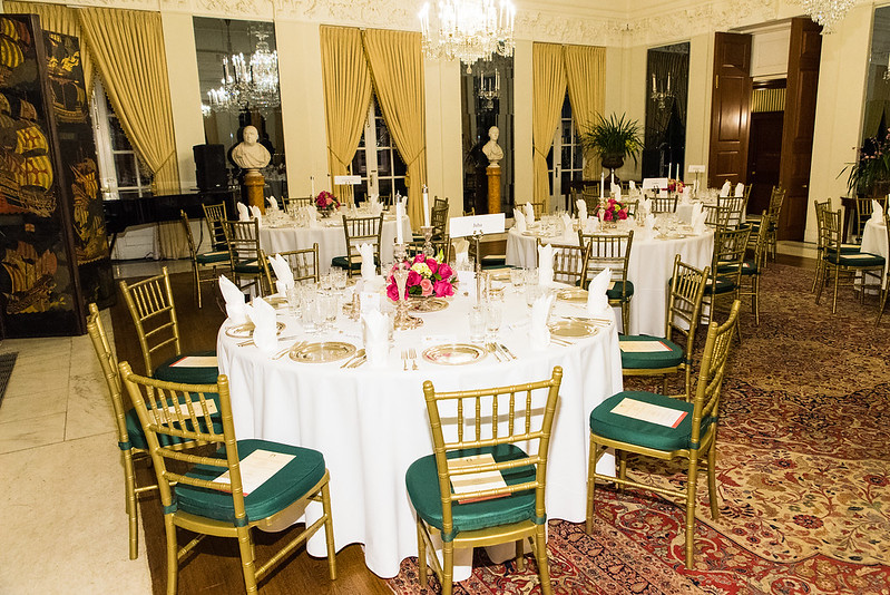 Tables Prepared for Guests - 2017 Tribute Dinner at the British Ambassador's Residence