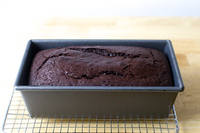 everyday chocolate cake, baked