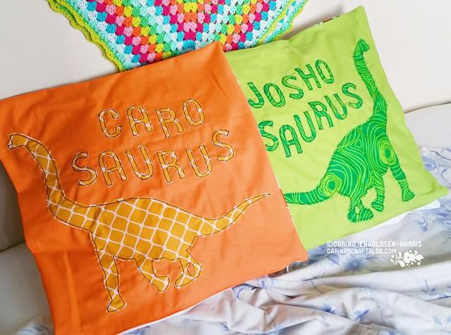 Dinosaur cushions