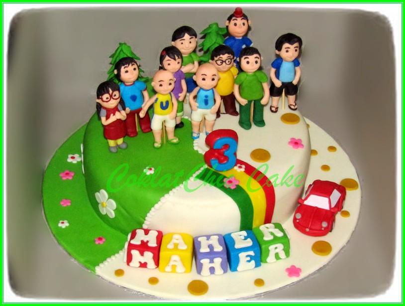 Cake Upin Ipin MAHER 20 cm
