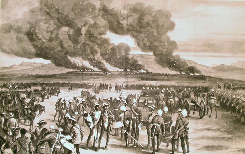 The burning of Ulundi, July 1879.
