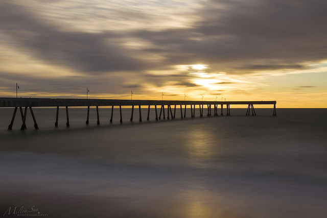 Clouds, Ocean and Fishing Pier