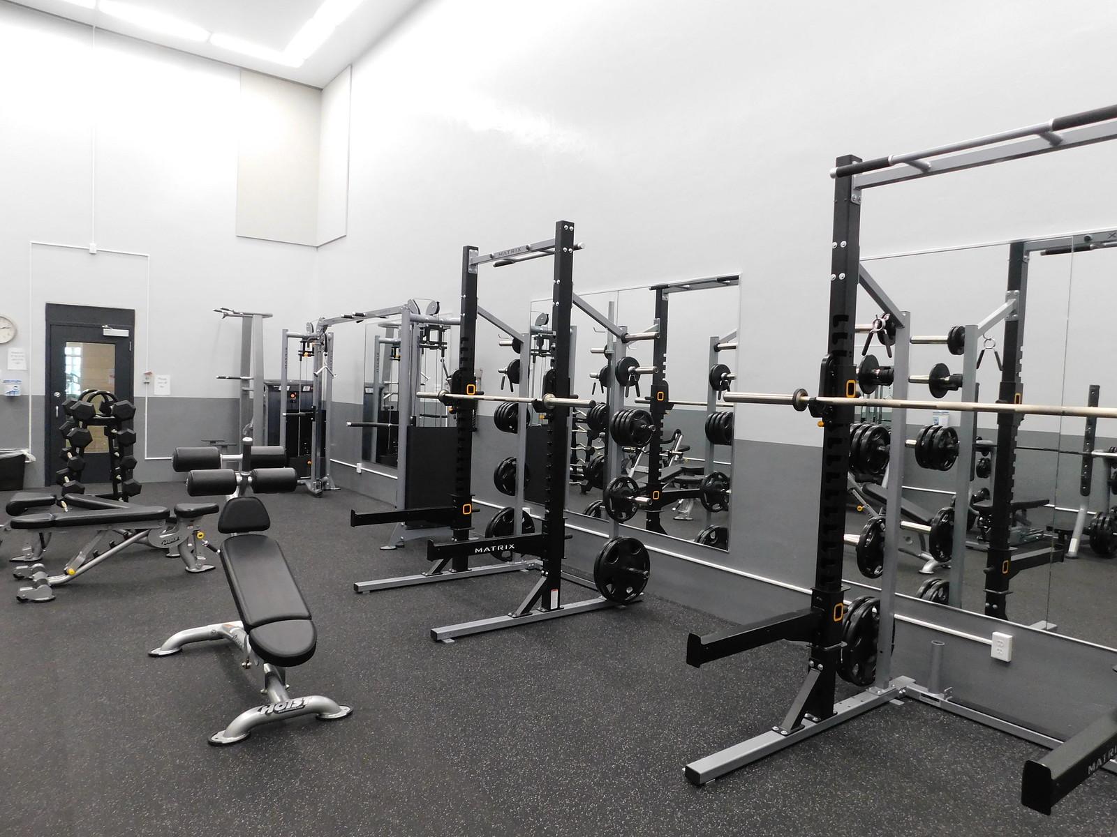 Weight room becker community center