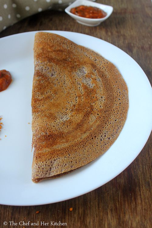 ragi dosa recipe using ragi flour