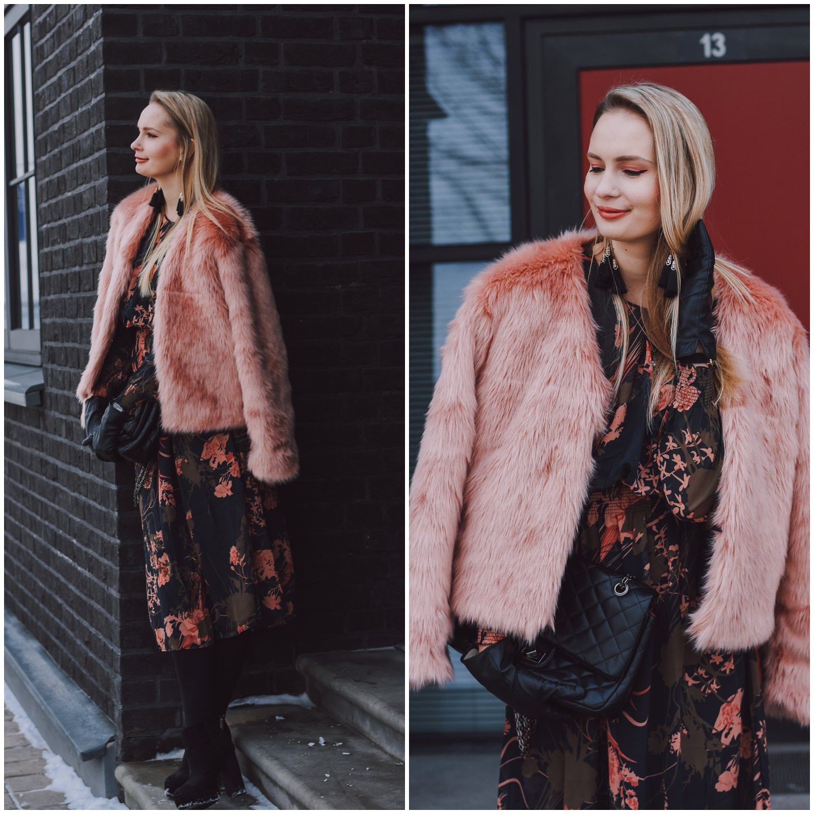 Lovelywholesale faux fur jacket