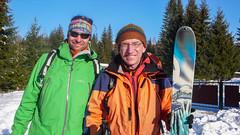 Moj parter Jakub Michalski i ja przed startem w Dzembronia - dzień 2.