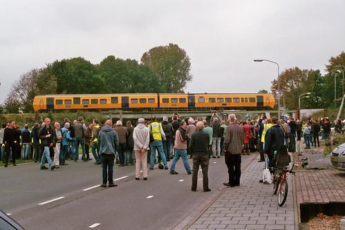Afscheid van  DM '90: Fotostop op het spoorviaduct van Bareveld