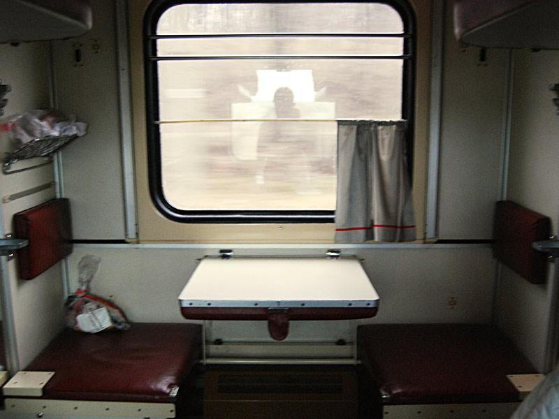 Ejemplo de un vagon de tercera clase de un tren del Transiberiano