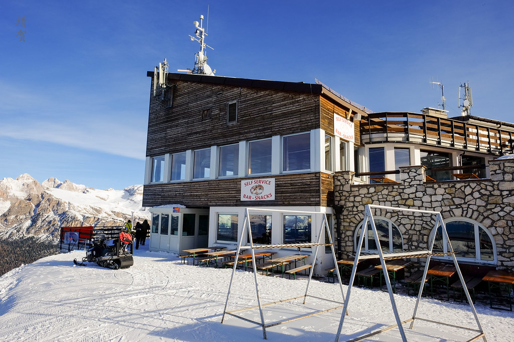 Ski chalet at the top of Ciampinoi