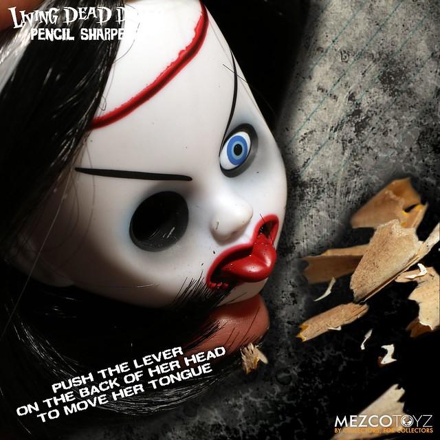 最互相傷害的削鉛筆~?! MEZCO 活死人娃娃削鉛筆機【情人節新娘款】The Living Dead Dolls Pencil Sharpener Bride of Valentine