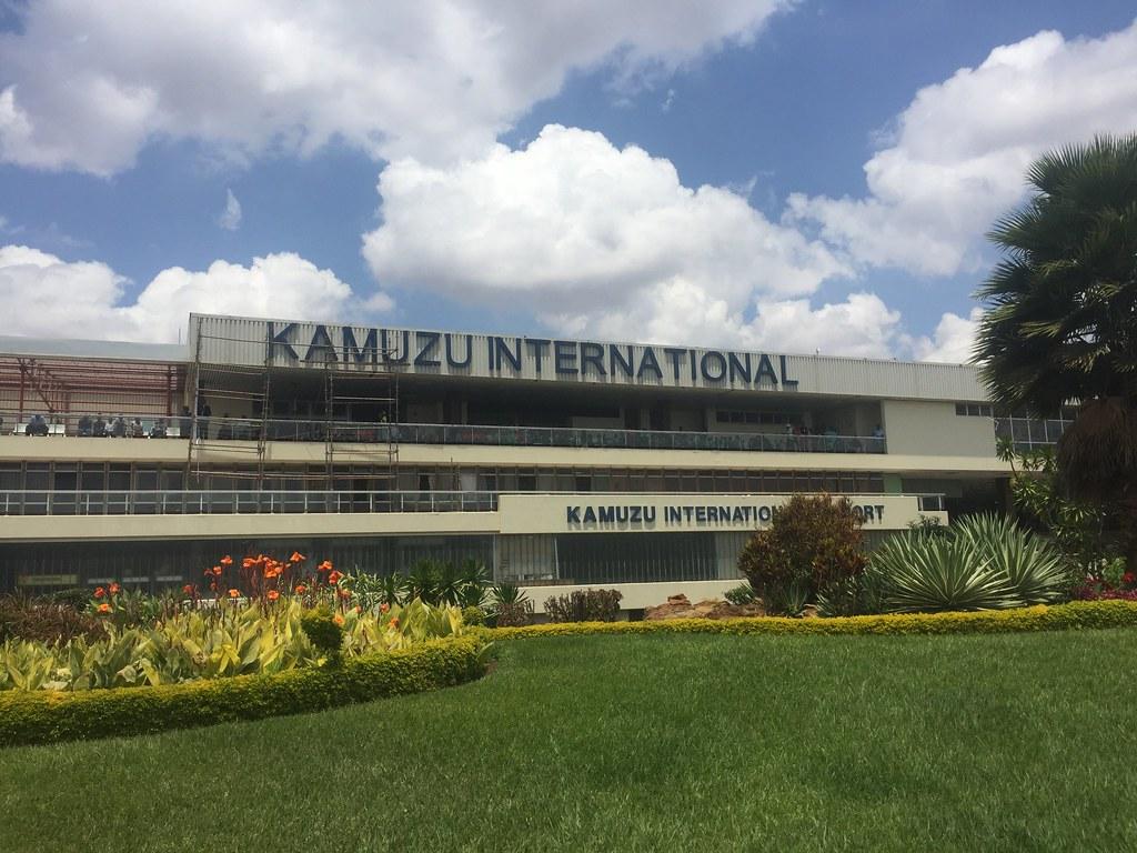Gertrude Maseko, First Lady of Malawi. President of Malawi is Peter Mutharika. Kamuzu International Airport, Lilongwe International Airport, Malawi.