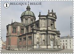 13 PLACES DE NAMUR timbre C cathédrale