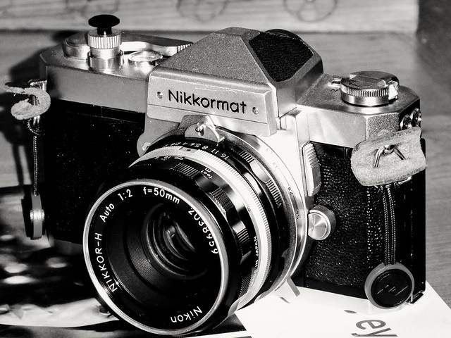 My Nikkormat FTn [Circa 1967] + One Of My Oldest Nikon Lens From About 1964, The Nikkor-H Auto Pre-Ai 50mm f/2.